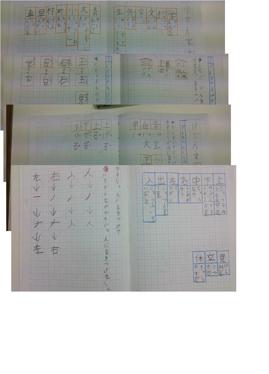 ノートじまん1年漢字